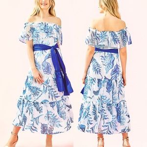 NWT | Lilly Pulitzer | Sona Off-the-Shoulder Midi